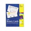 Avery Laser/Inkjet Rotary Cards, 3 x 5, 3 Cards/Sheet,