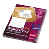 Avery White Weatherproof Laser Shipping Labels, 3-1/3 x