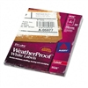 Avery White Weatherproof Laser Shipping Labels, 5-1/2 x
