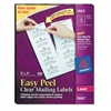 Avery Easy Peel Laser Mailing Labels, 2 x 4, Clear, 500