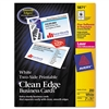 Avery Two-Side Clean Edge Laser Business Cards, 2 x 3 1