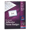 Avery Self-Adhesive Name Badge Labels, BorDERStyle, 2 1