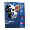 Avery CD/DVD Removable Laser Labels, White Matte, 50/Pa