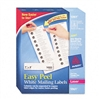 Avery Easy Peel Laser Address Labels, 1 x 4, White, 500