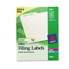 Avery Self-Adhesive Laser/Inkjet File Folder Labels, Ye