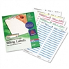 Avery Removable Filing Labels for Inkjet/Laser, 3-7/16