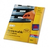 Avery Removable Inkjet/Laser ID Labels, 1/2 x 1-3/4, Wh