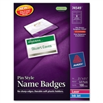 Avery Badge Holder Kit w/Laser/Inkjet Insert, Top Load, 2 1/4 x 3 1/2, White, 100/BX # AVE74549
