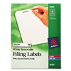 Avery Removable Inkjet/Laser Filing Labels, 3-7/16 x 2/