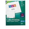 Avery Inkjet Labels for Color Printing, 3-1/3 x 4, Matt