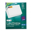 Avery Inkjet Labels for Color Printing, 3/4 x 2-1/4, Ma