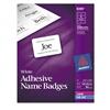 Avery Self-Adhesive Name Badge Labels, Plain-Style, 2 1