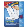 Avery Easy Peel Inkjet Address Labels, 1 x 4, White, 20