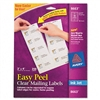 Avery Easy Peel Inkjet Mailing Labels, 2 x 4, Clear, 25