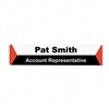 Advantus Panel Wall Sign Name Holder, Acrylic, 9 x 2, 6