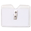 Advantus Security ID Badge Holder, Horizontal w/Clip, 5