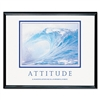 "Advantus ""Attitude/Waves Framed Motivational Print, 30"