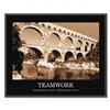 Advantus Teamwork Framed Sepia-Tone Motivational Prin