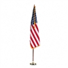 Advantus Indoor 3' x 5' U.S. Flag, 8-ft. Oak Staff, 2