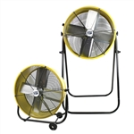 "Ventamatic MaxxAir Portable Air Circulator 24"" Direct Drive Tilt Fan - 2N1 Tilt/Stand Fan, Convertible # BF24TF2N1YEL"