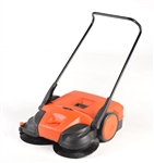 "Bissell 31"" Battery Powered Triple Brush Push Manual Sweeper, BG-677"