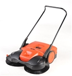 "Bissell 38"" Battery Powered Triple Brush Push Power Sweeper"
