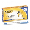 BIC Clic Stic Retractable Ballpoint Pen, Blue Ink, Medi