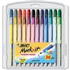 BIC Mark-It Permanent Markers, Fine Point, Assorted Col