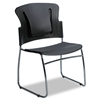 BALT ReFlex Series Stacking Chair, Black, 19 x 19 x 33h