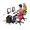 BALT Split-Level Computer Training Table, 72 x 36, Stee
