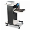 BALT Adjustable Presentation Cart, 18 x 30 x 40-1/4, Bl