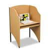 BALT Floor Privacy Study Carrel, Teak Laminate # BLT898