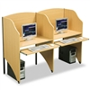 BALT Add-On Privacy Study Carrel, Teak Laminate # BLT89