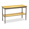 Barricks Utility Table w/Bottom Storage Shelf, Rectangl
