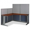 Bush OffICEin-an-Hour L-Workstation, 64-1/2w x 64-1/2d