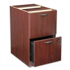 basyx Two-Drawer Pedestal File, 15-5/8w x 21-3/4d x 27-