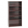 basyx BW Wood Veneer Series Bookcase, 5 Shelves, 36w x