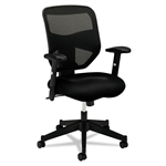 basyx VL531 High-Back Work Chair, Mesh Back, Padded Mesh Seat, Black # BSXVL531MM10