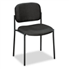 basyx Armless Guest Chair, 21-1/4 x 21 x 32-3/4, Black
