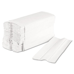 Boardwalk® C-Fold Paper Towels, Bleached White, 200 Sheets/Pack, 12 Packs/Carton # BWK6220