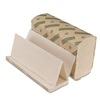 Boardwalk Green Folded Paper Towels, Multi-Fold, Natura