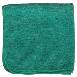 Microfiber Cleaning Cloths, Green, 16x16