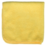 Microfiber Cleaning Cloths, Yellow, 16x16, Pack of 12