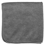 Premium Microfiber Cleaning Cloths, 49 Grams per Cloth, Gray, 16x16, Pack of 12