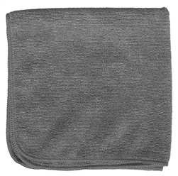 Microfiber Cleaning Cloths, Gray, 16x16, Pack of 12 (.49 EA)