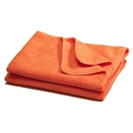 Premium Microfiber Cleaning Cloths, 49 Grams per Cloth, Orange, 16x16, Pack of 12