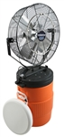 "Ventamatic Cool Draft 18"" Mid-Pressure Misting Fan with 10 gal Tank # CDMP1810REC"