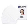 C-Line PVC Video Grade ID Badge Card, White, 3 3/8 x 2