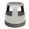 Cramer Scooter Stool Round, 15, Step & Lock Wheels, to