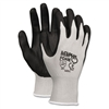 MCR Safety Economy Foam Nitrile Gloves, Gray/White # CR